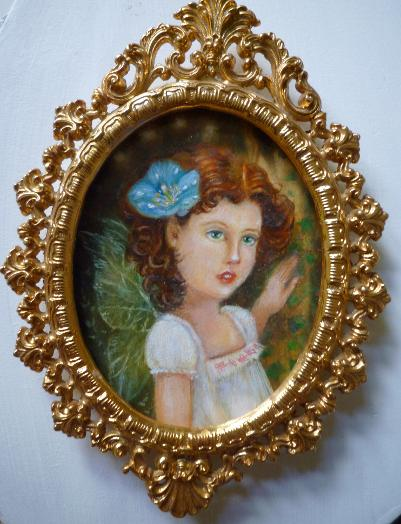Miniature in oils. Fae child